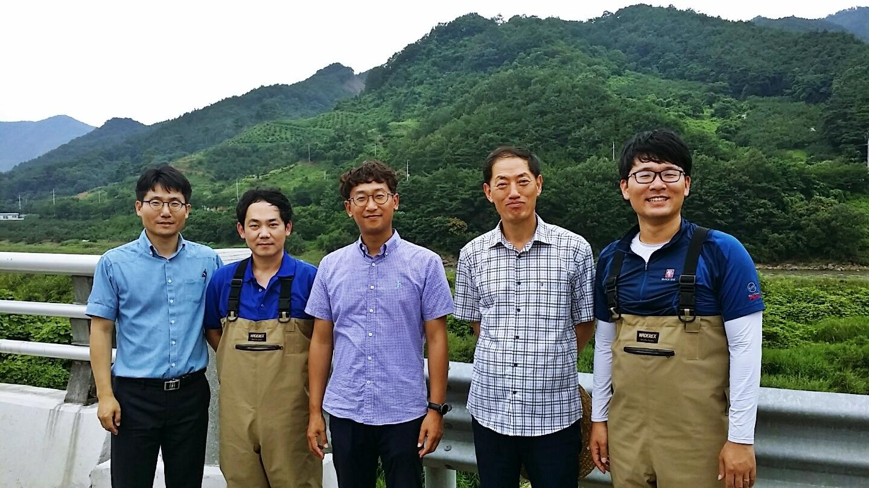 섬진강수계유량모니터링사업안연순원장현장방문