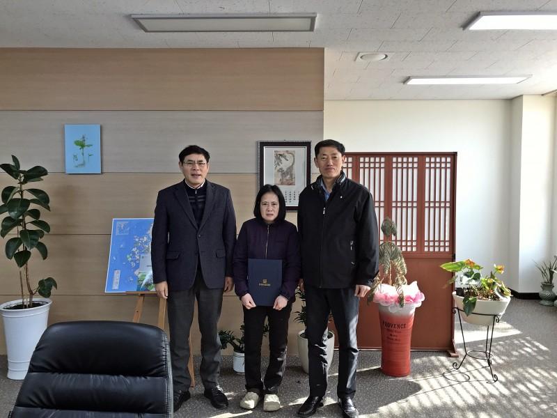 비정규직정규직전환대상자임용장수여식개최