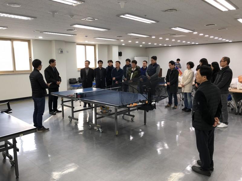 직장동호회탁구탑스핀발대식개최